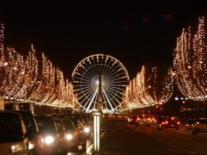Christmas illuminations on Champs Elysees